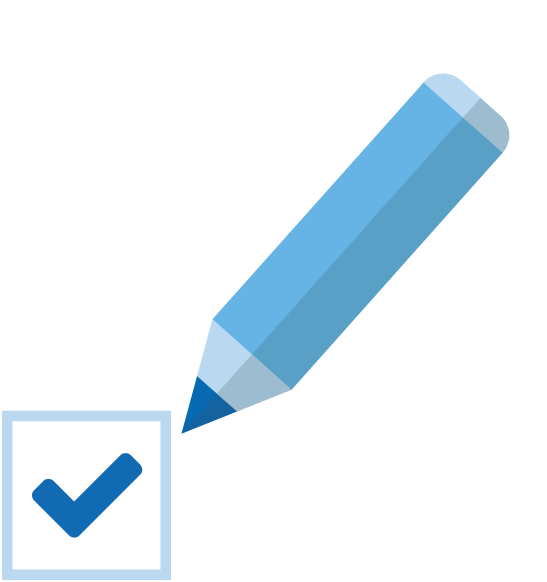 Grafik Checkbox und Stift